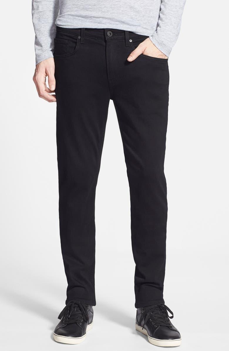 PAIGE Transcend – Lennox Slim Fit Jeans, Main, color, BLACK SHADOW
