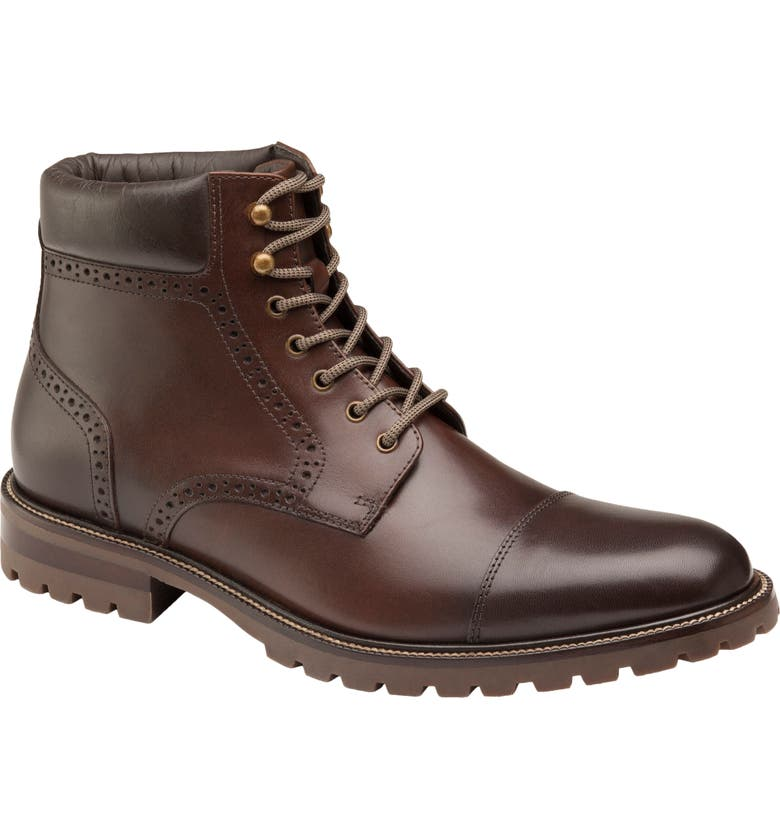 Hobson Cap Toe Boot, Main, color, MAHOGANY