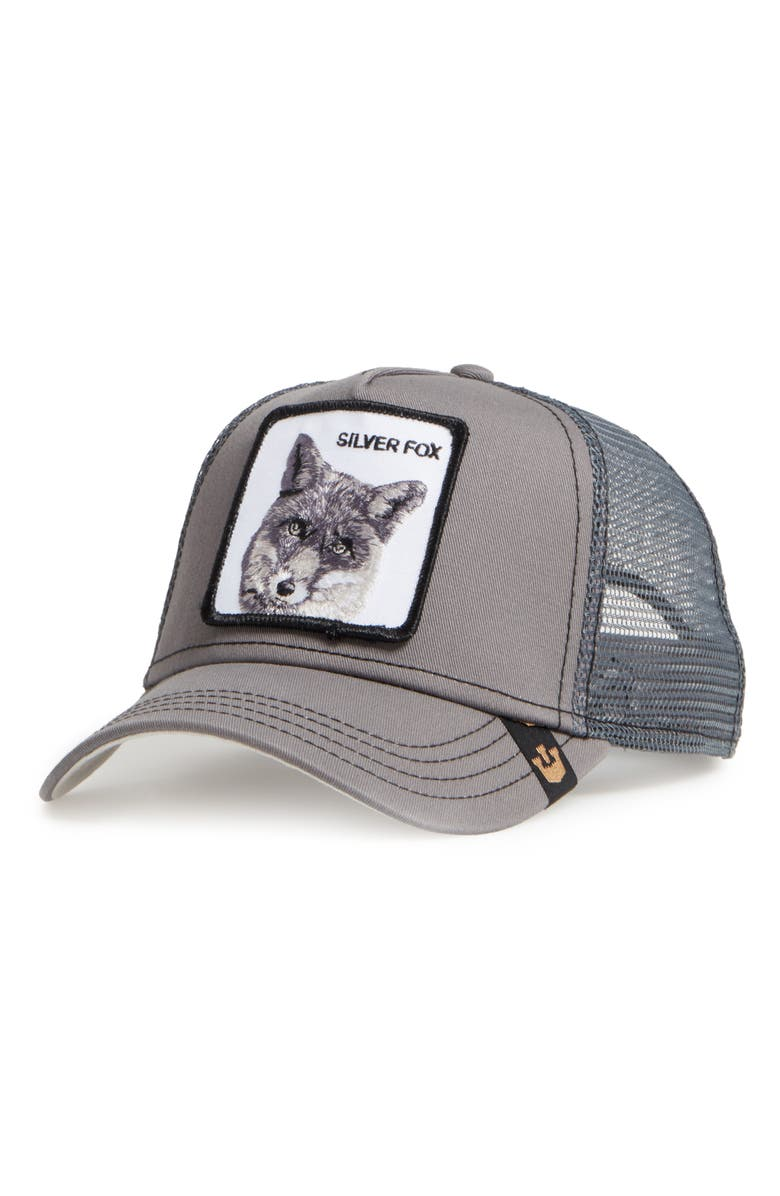 GOORIN BROS. Silver Fox Trucker Hat, Main, color, CHARCOAL