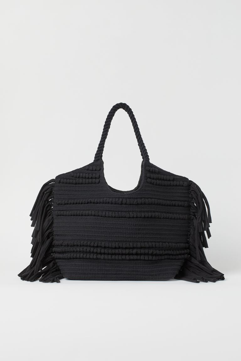 Fringed Shopper - Black - Ladies