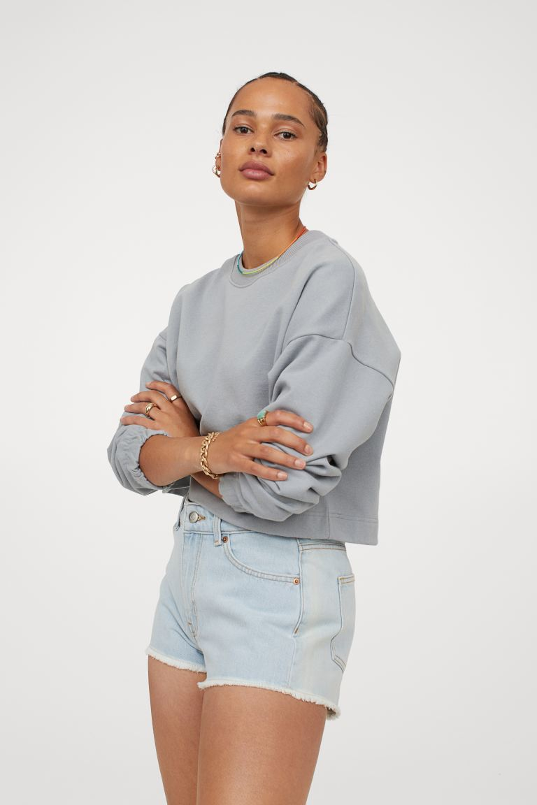 Slim High Denim Shorts - Light denim blue - Ladies