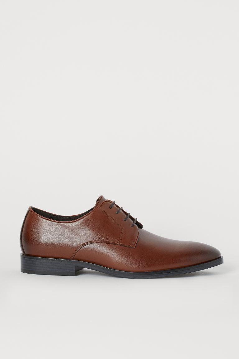 Derby Shoes - Dark brown