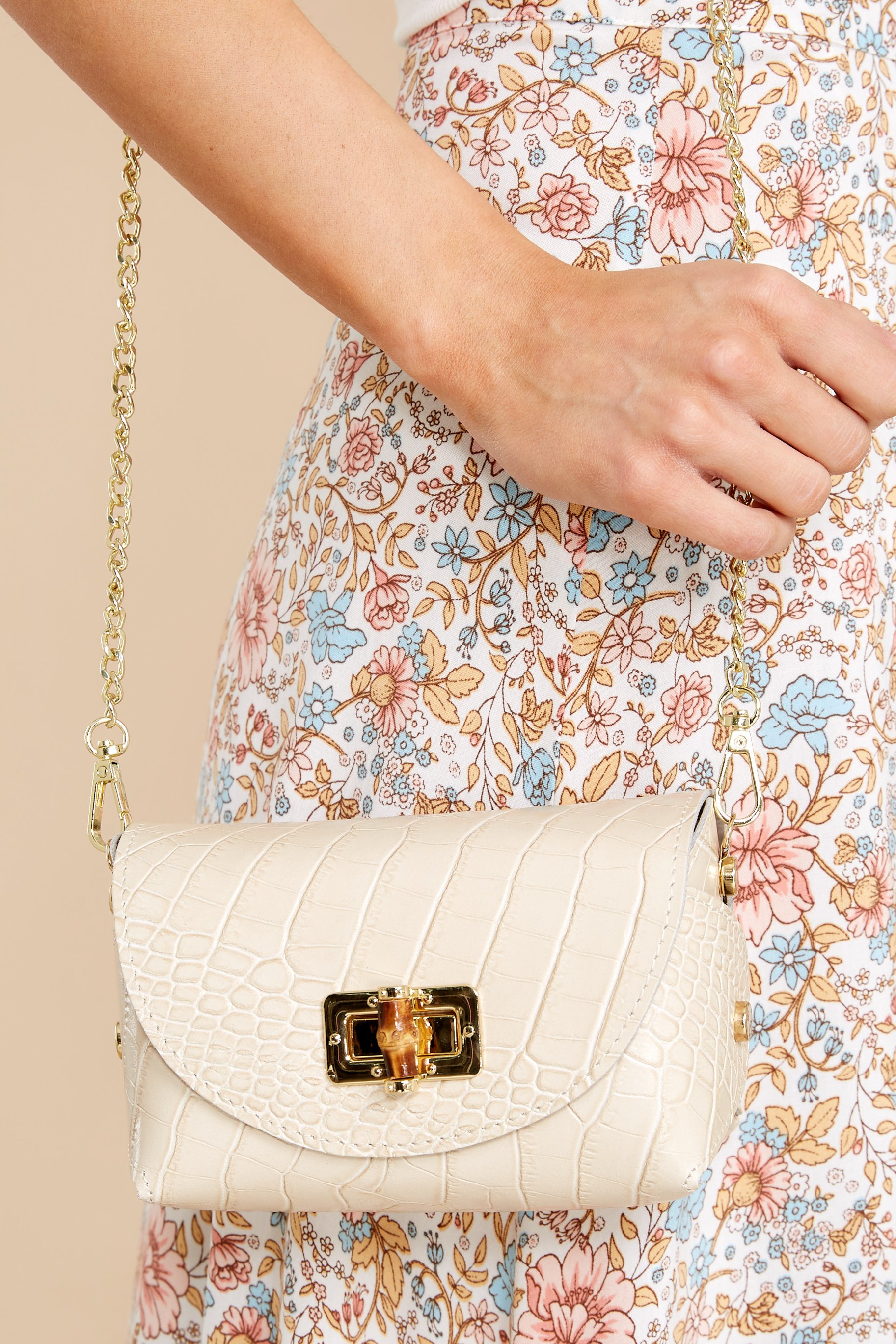 The Little Details Cream Bag