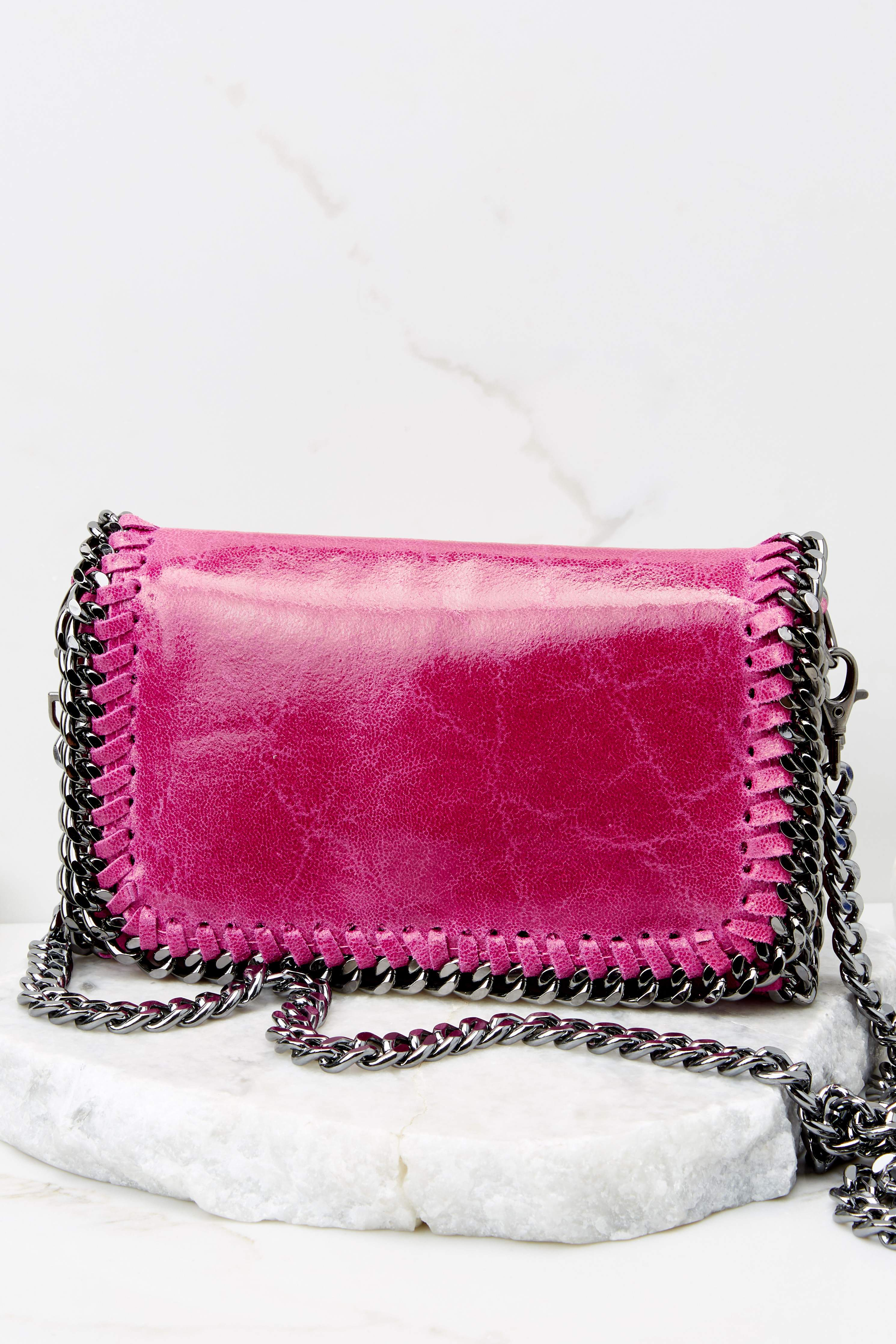 In The Night Hot Pink Clutch