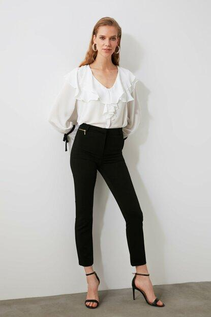 Women's Zip Detail Black Pants