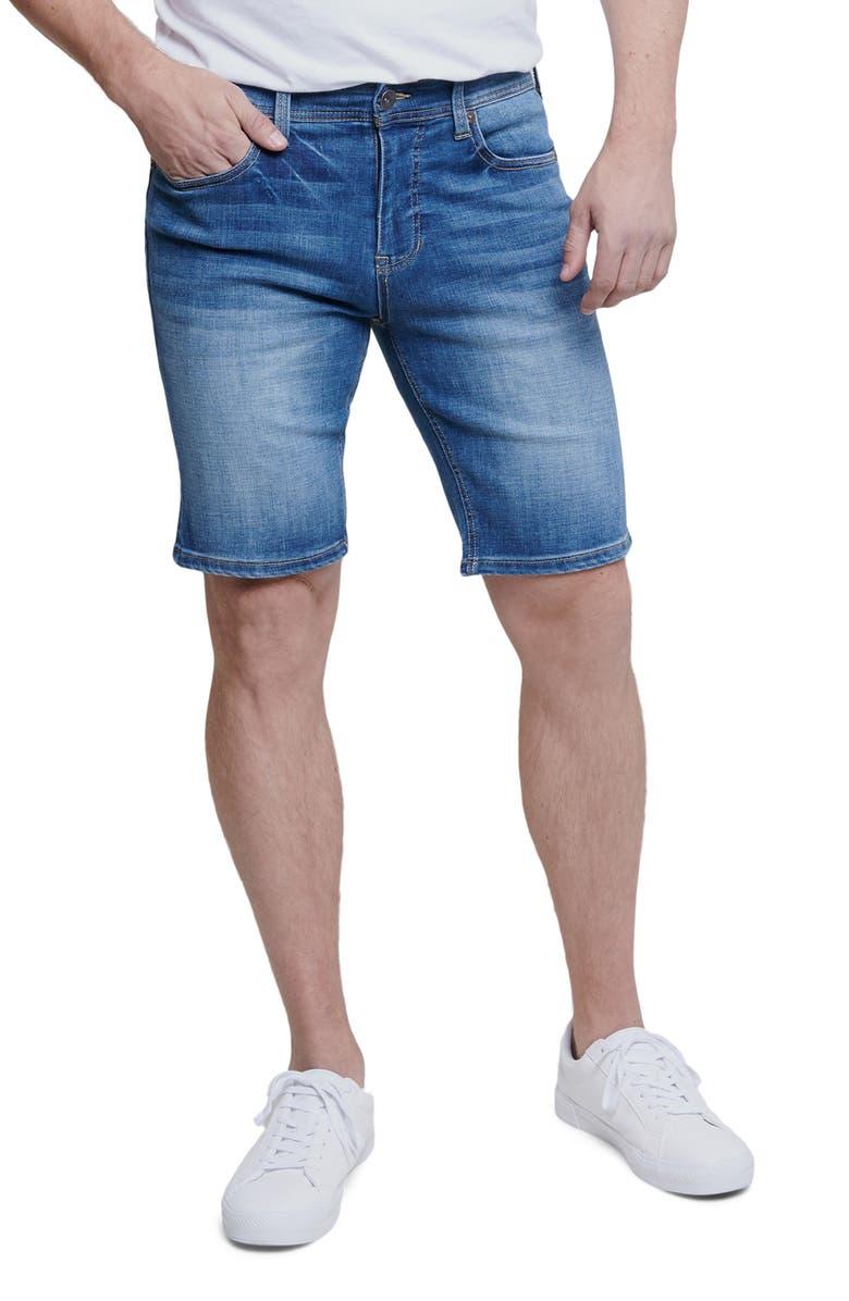 SEVEN7 Denim Bermuda Shorts, Main, color, PALMAS