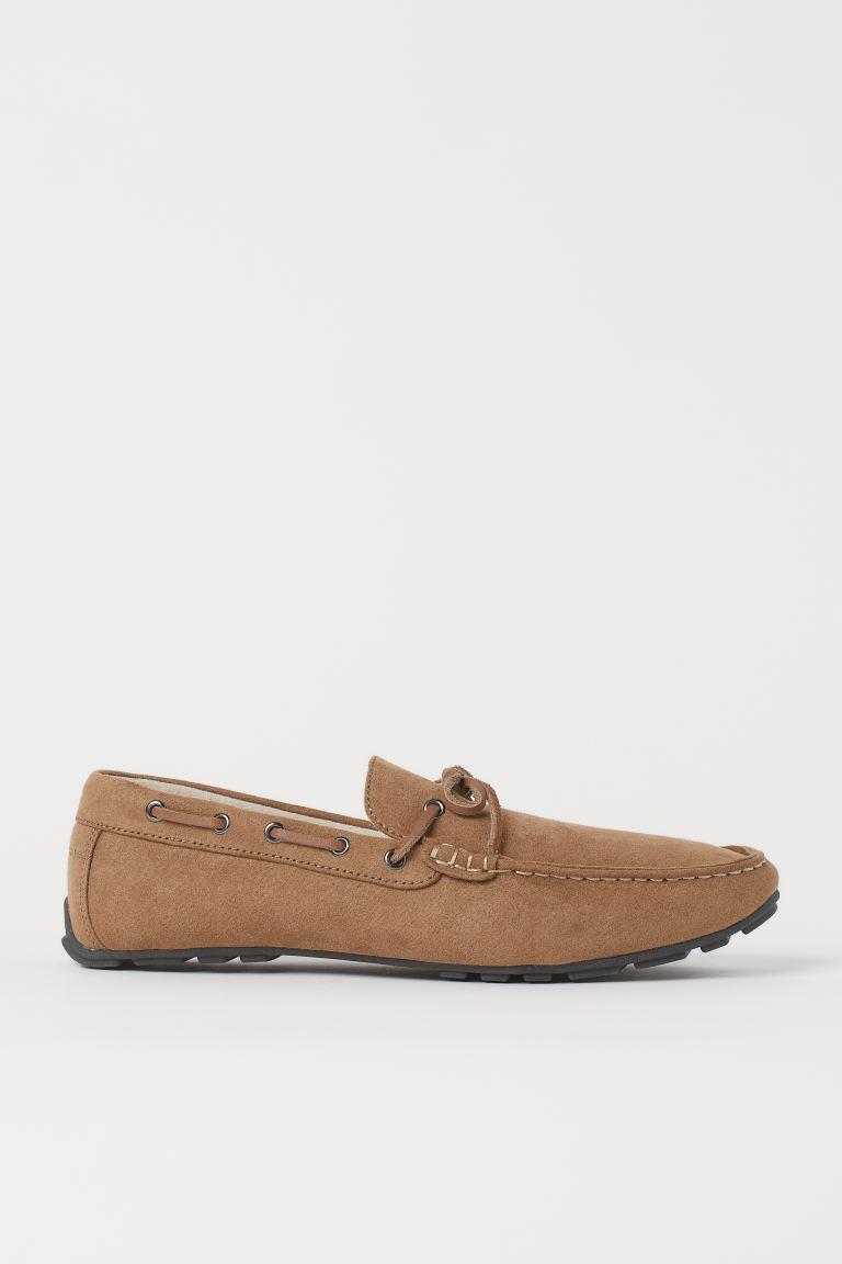 Faux Suede Loafers - Dark beige - Men