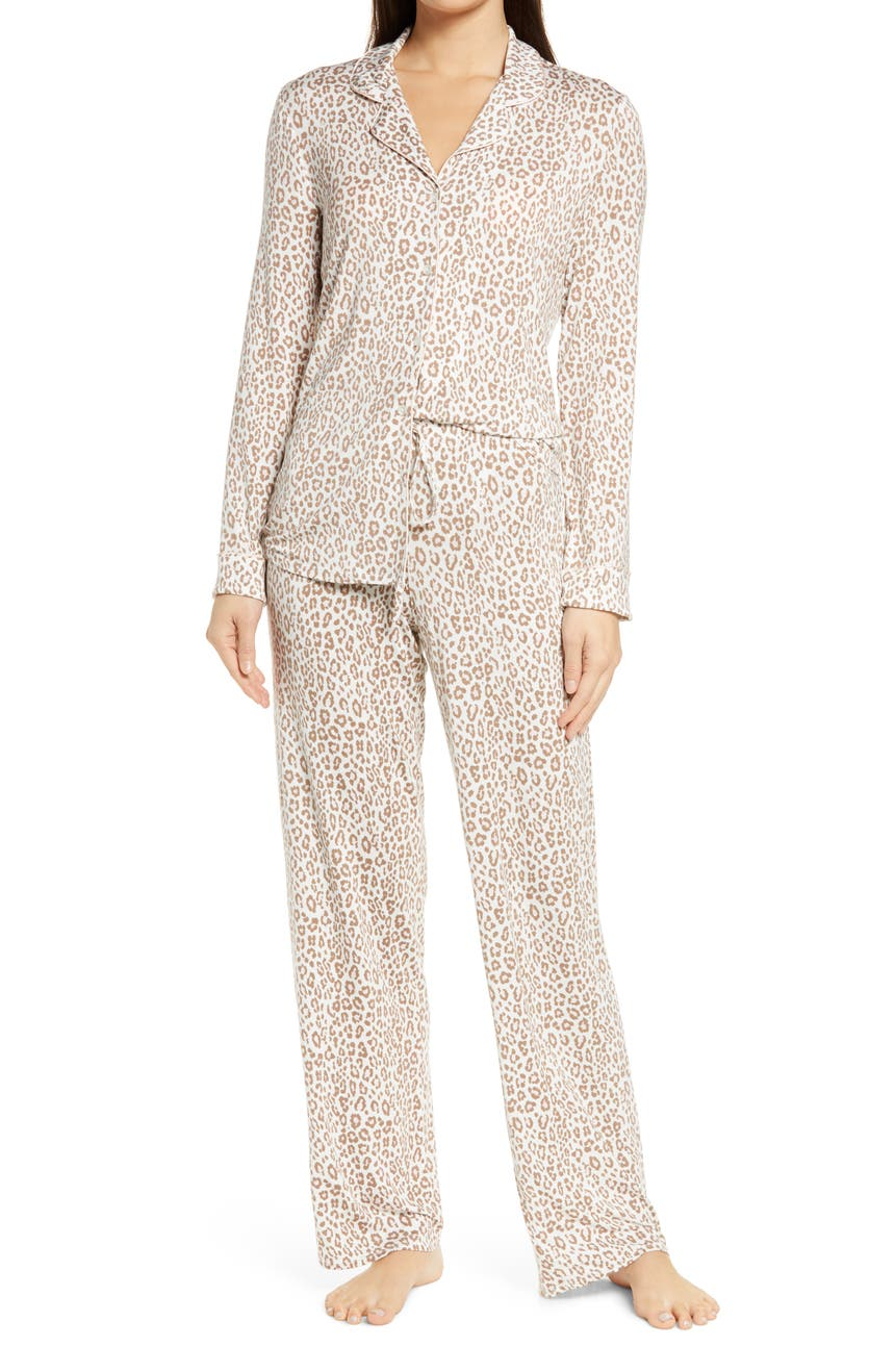 Moonlight Pajamas, Main, color, IVORY EGRET ANIMAL PRINTS