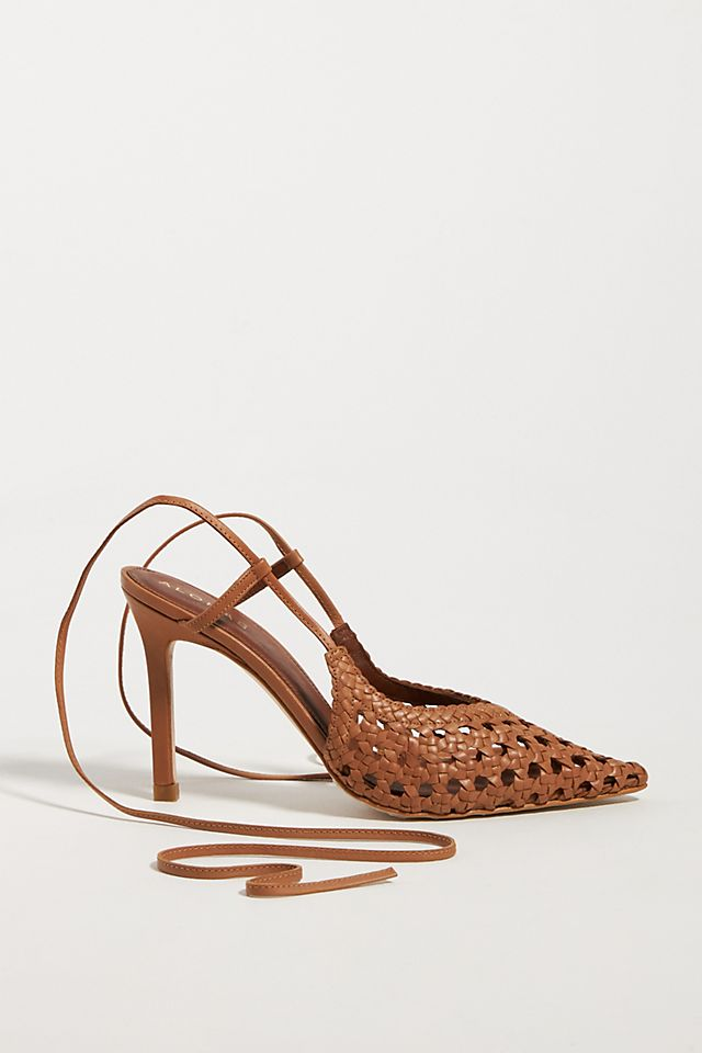 Lace-Up Kitten Heeled Sandals