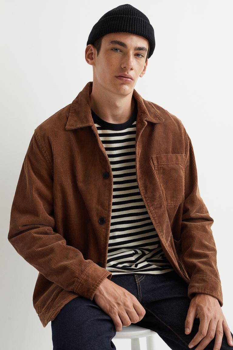 Corduroy Shirt Jacket - Brown - Men