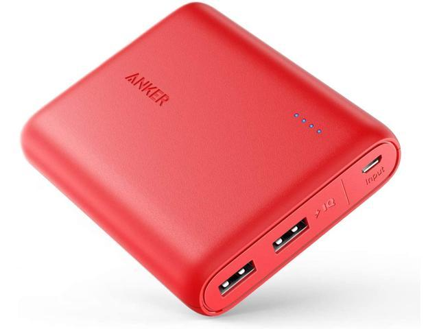 Power Bank, PowerCore 13000 Portable Charger - Compact 13000mAh 2-Port Ultra Portable Phone Charger with PowerIQ and VoltageBoost Technology for iPhone, iPad, Samsung Galaxy (Red)