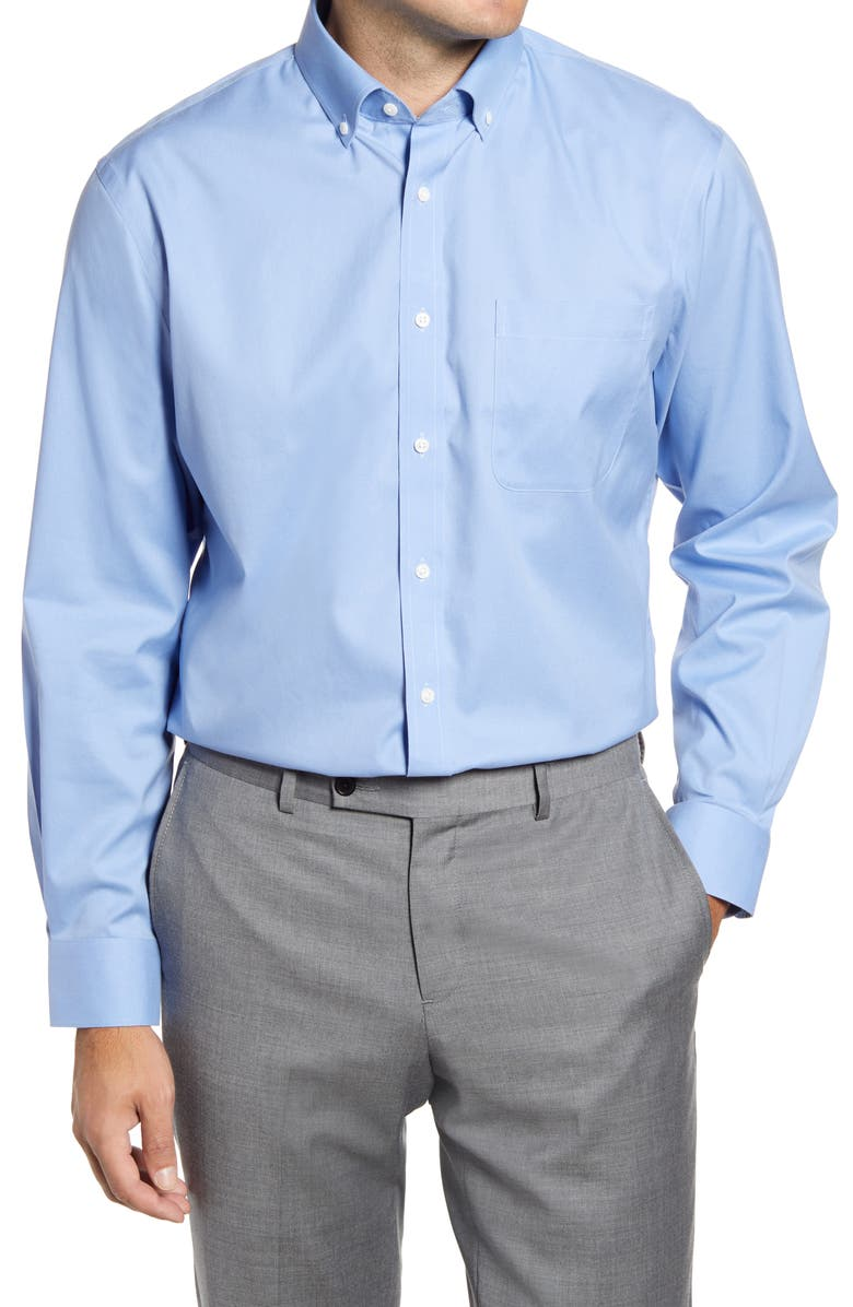 3-Pack Traditional Fit Non-Iron Dress Shirt, Main, color, BLUE HYDRANGEA