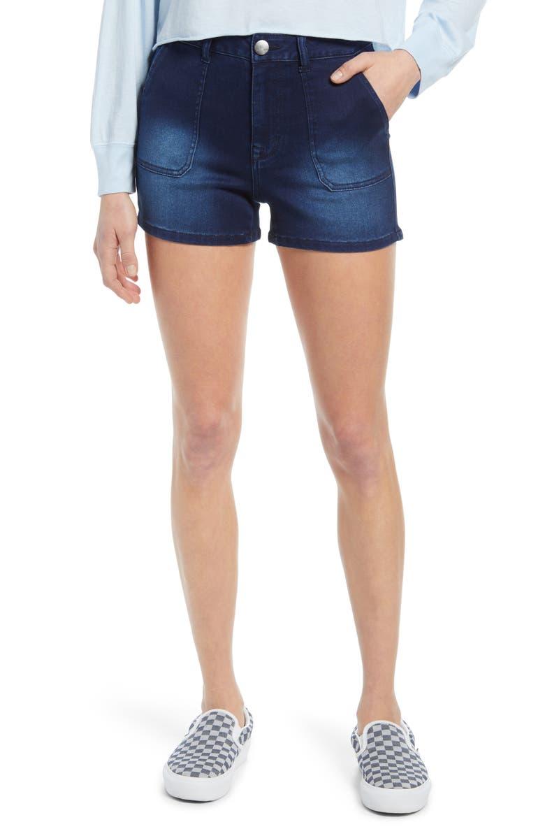 1822 DENIM Butter High Waist Denim Shorts, Main, color, MARCO