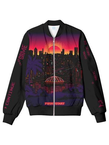 outrun sunset bomber jacket
