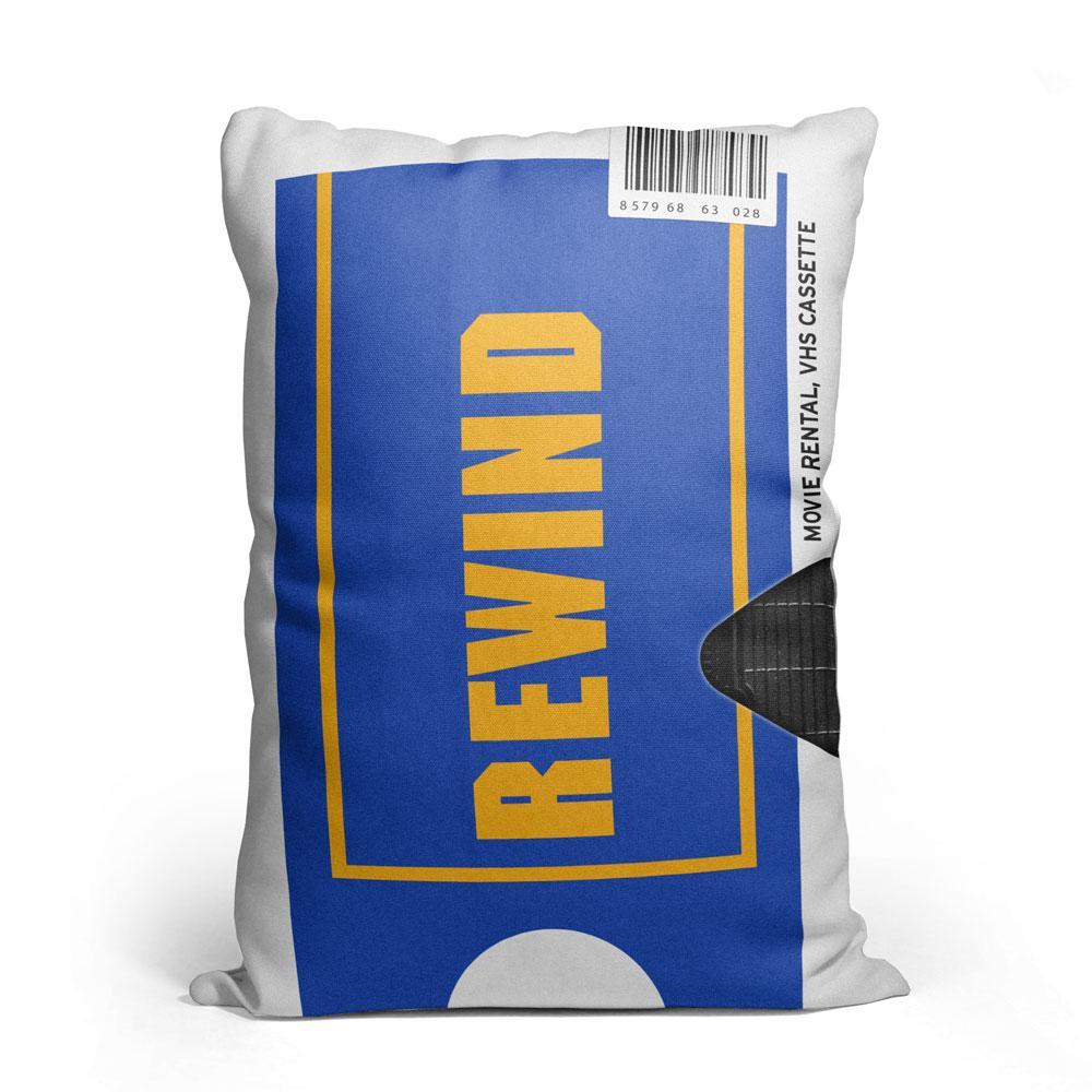 VHS REWIND - Throw Pillow - buymecool