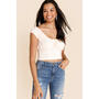 Heather Ruched Cropped Tee