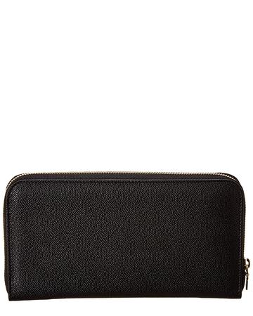 Monogram Leather Zip Around Wallet