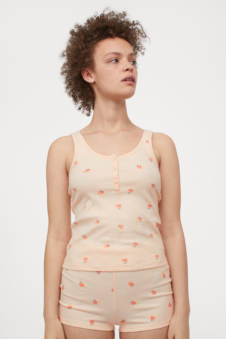 Cotton Pajamas - Light apricot/peaches - Ladies
