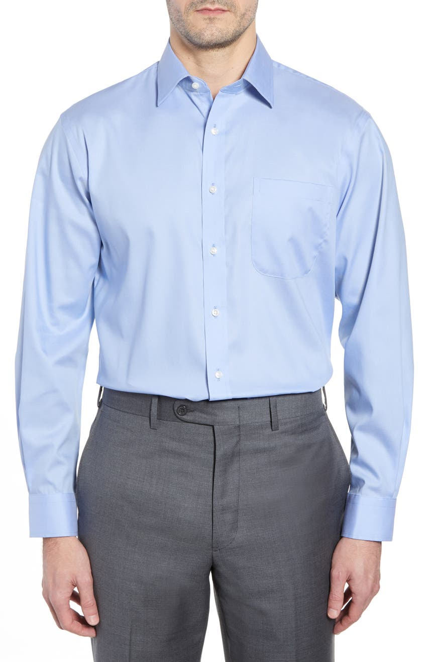 Traditional Fit Non-Iron Dress Shirt, Main, color, BLUE AZURITE