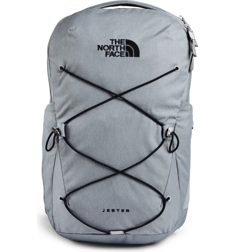 THE NORTH FACE Jester Campus Backpack, Main, color, MID GREY DARK HEATHER/ BLACK