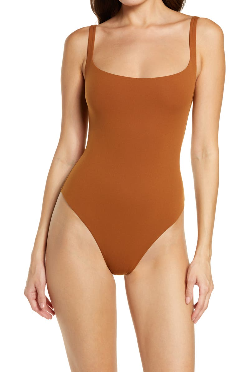 Fits Everybody Square Neck Sleeveless Bodysuit, Main, color, COPPER