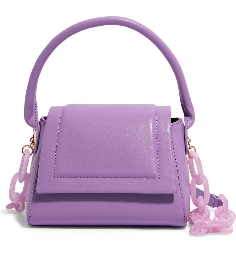 We Are Chic Vegan Leather Top Handle Crossbody, Main, color, LAVENDER