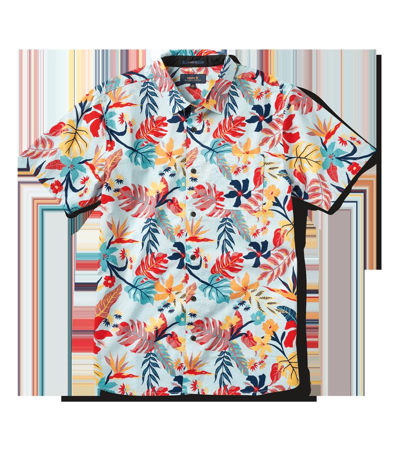 Desert Tropics Button Up Shirt - Light Blue