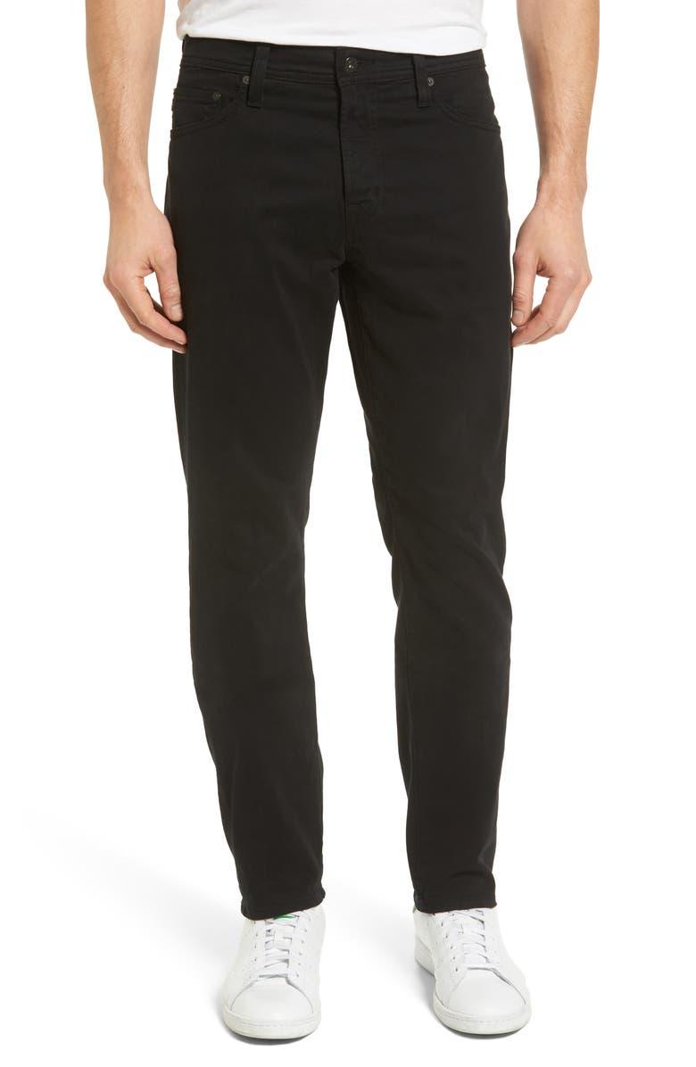 Everett SUD Slim Straight Fit Pants, Main, color, SUPER BLACK