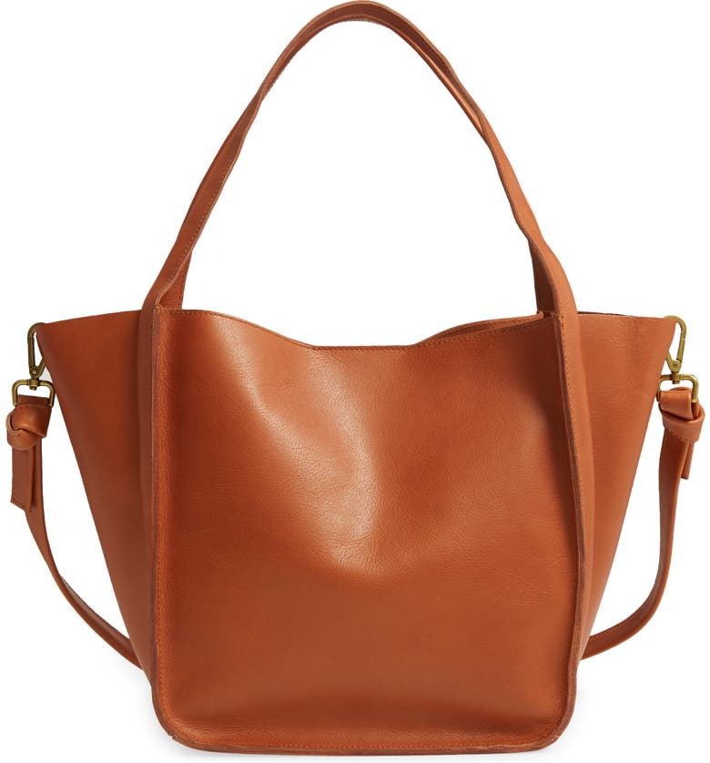 The Sydney Leather Tote, Main, color, BURNISHED CARAMEL