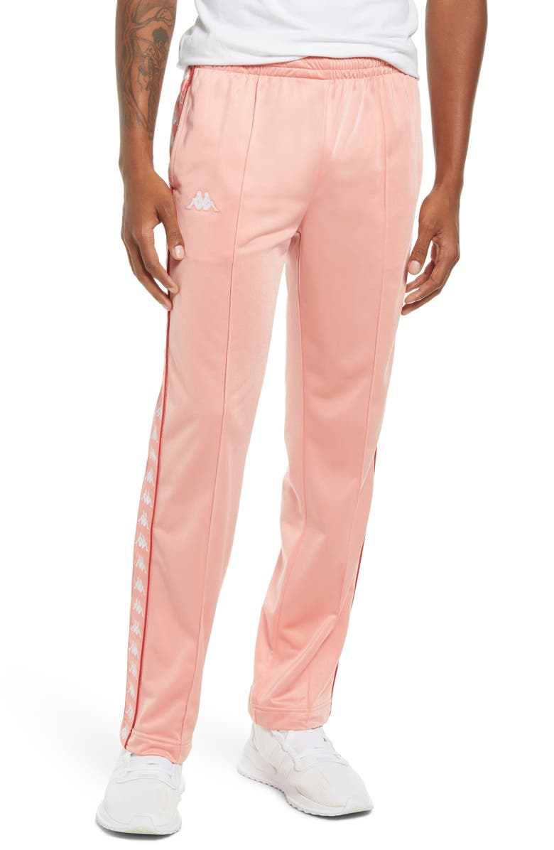 KAPPA Men's Authentic Astoriazz Track Pants, Main, color, PINK-RED-WHITE BRIGHT