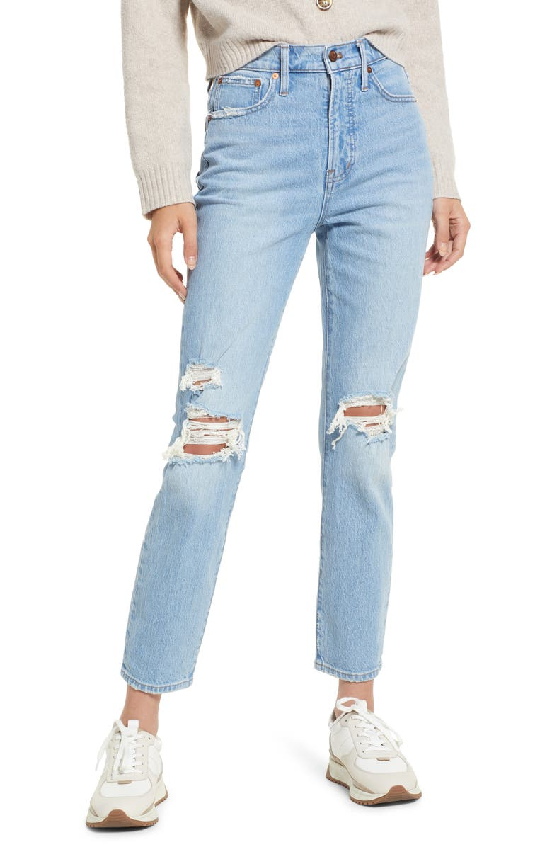 MADEWELL The Perfect Vintage Destructed Jeans, Main, color, GRANDBAY WASH