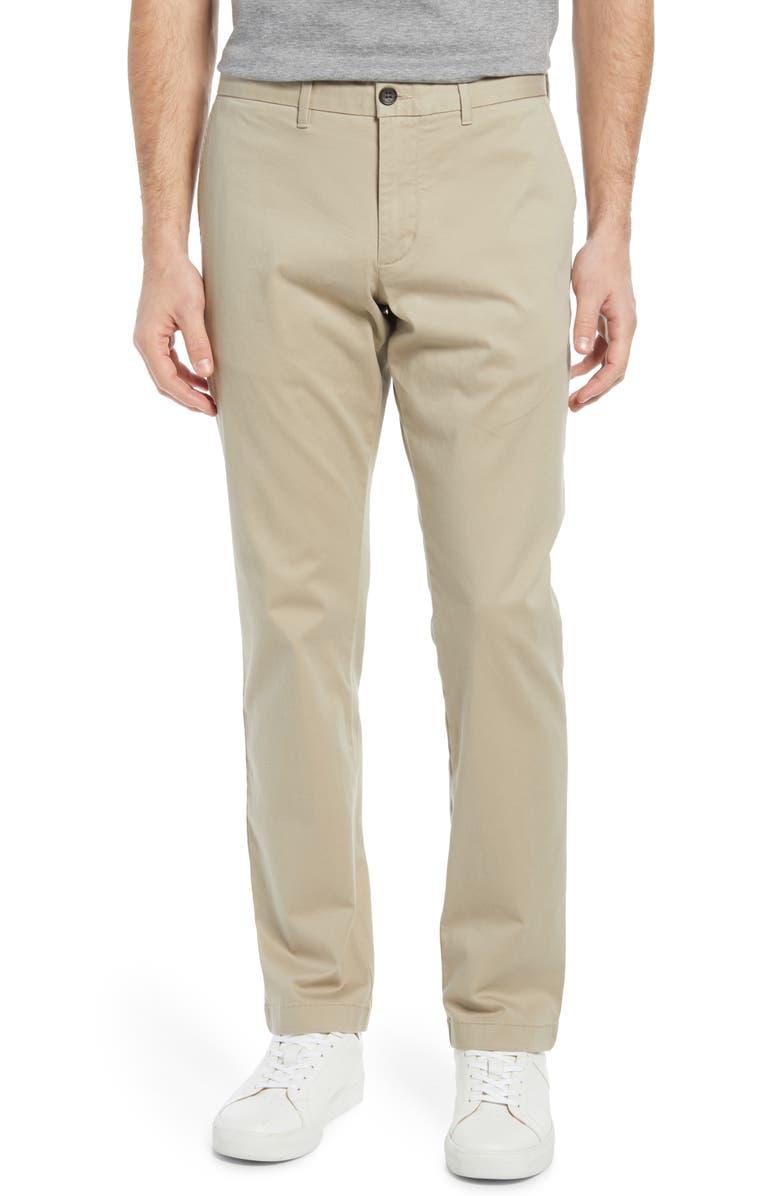 Ballard Slim Fit Chino Pants, Main, color, TAN BURROW