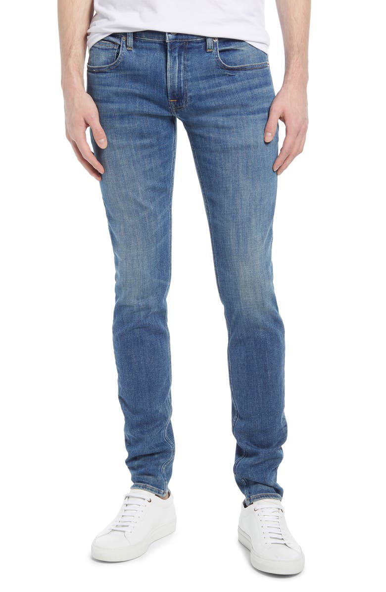 Men's The Stacked Skinny Jeans, Main, color, DYLAN BLUE