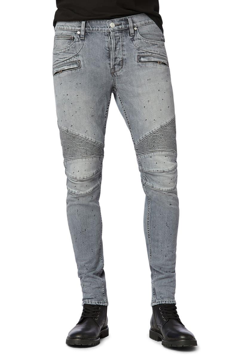 HUDSON JEANS Blinder Biker Skinny Fit Jeans, Main, color, ASHED