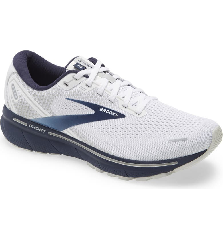 Ghost 14 Running Shoe, Main, color, WHITE/ GREY/ NAVY