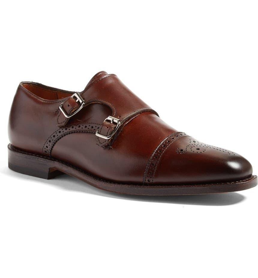 'St. Johns' Double Monk Strap Shoe, Main, color, CHILI