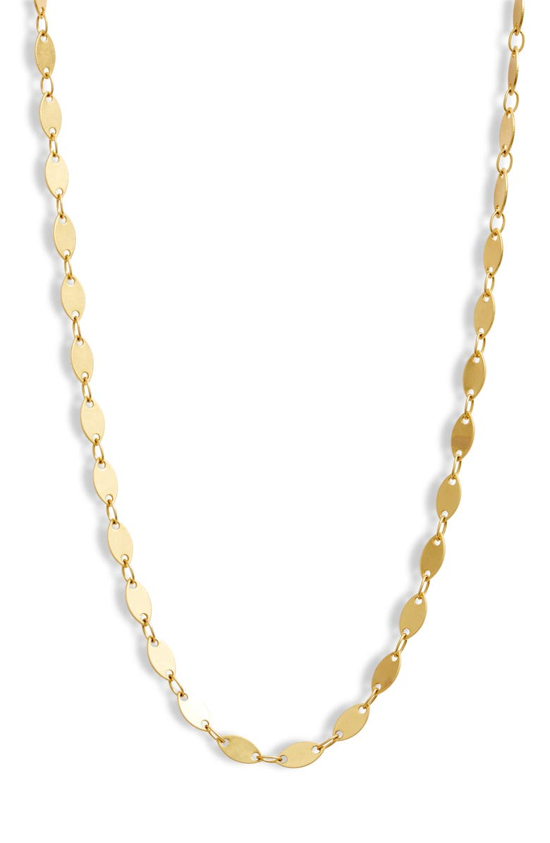 Oval Disc Chain Necklace, Main, color, VINTAGE GOLD