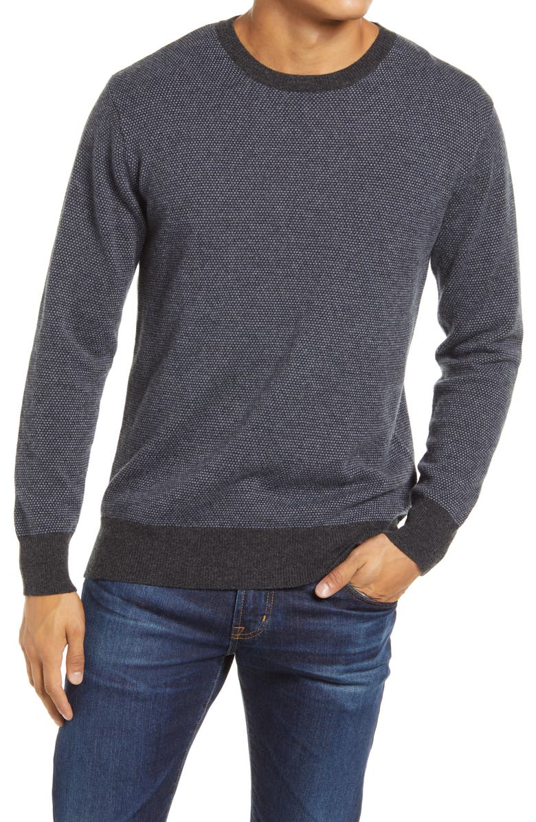 RAILS Rune Wool Blend Crewneck Sweater, Main, color, NAVY/ BLUE