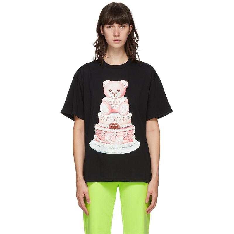Moschino Cake Teddy Bear T-Shirt Black