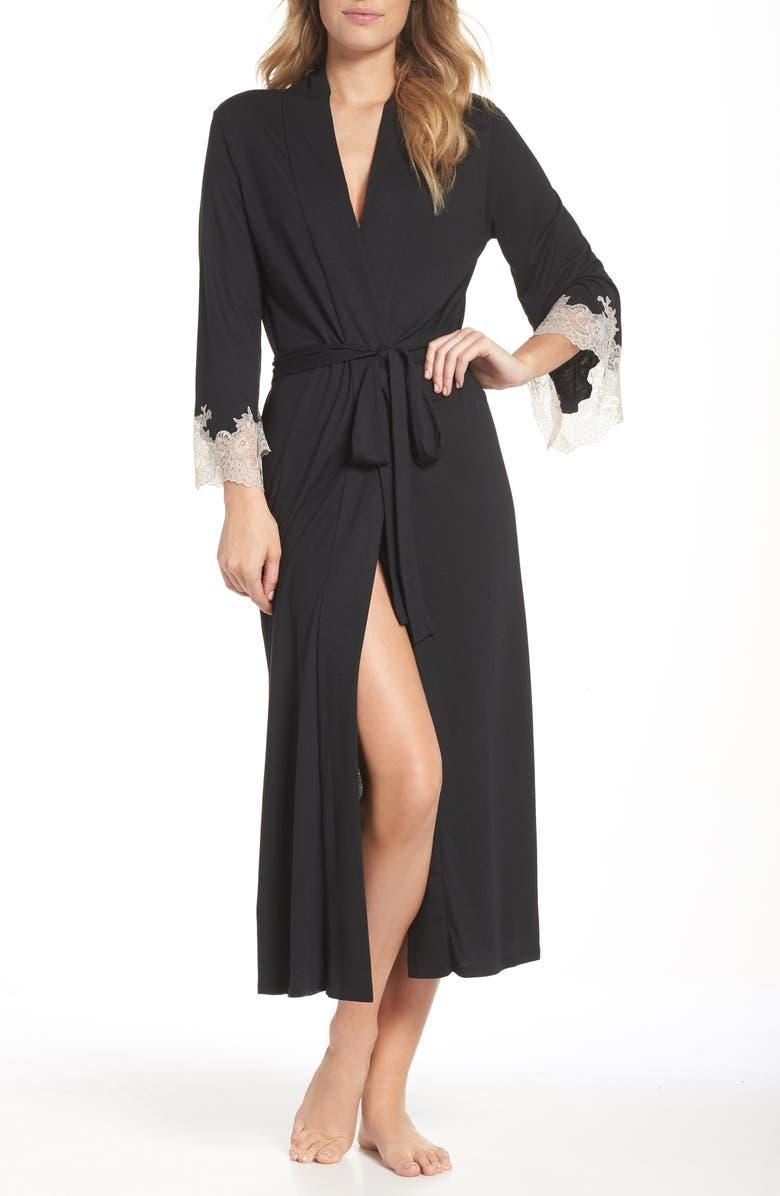 NATORI Luxe Shangri-La Robe, Main, color, BLACK