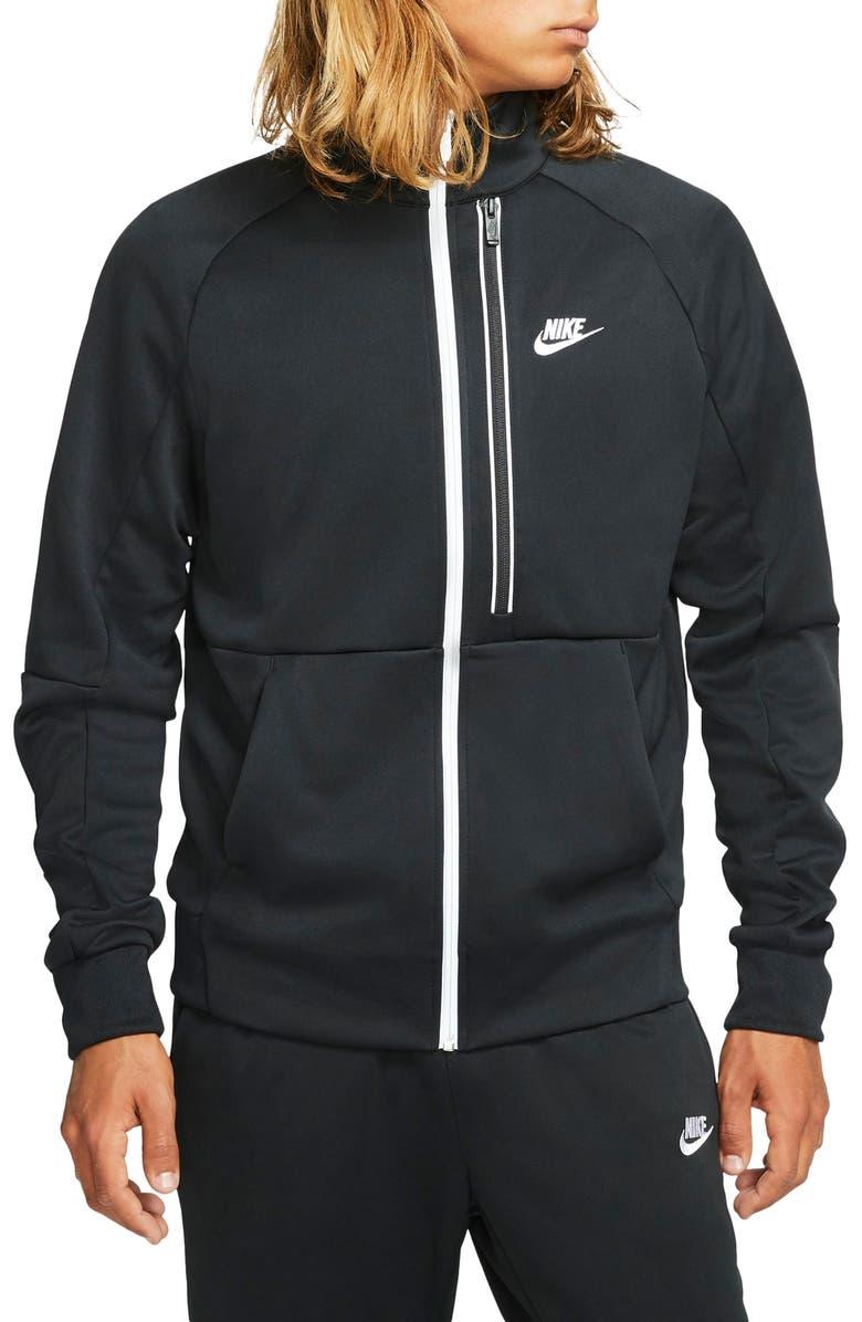 NIKE Sportswear Tribute N98 Track Jacket, Main, color, BLACK/WHITE