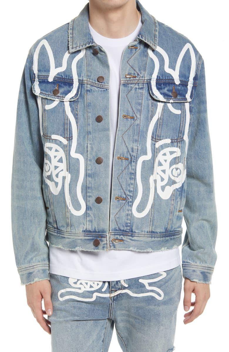 ICECREAM Men's Mirror Denim Jacket, Main, color, LIGHT BLUE DENIM