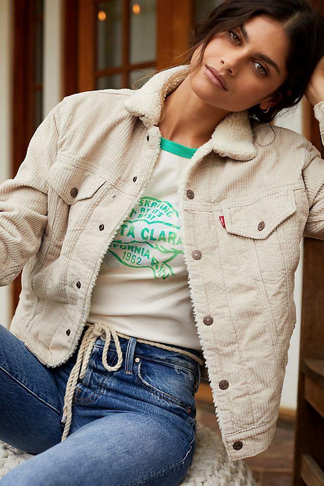 Ex-Boyfriend Sherpa-Lined Denim Trucker Jacket