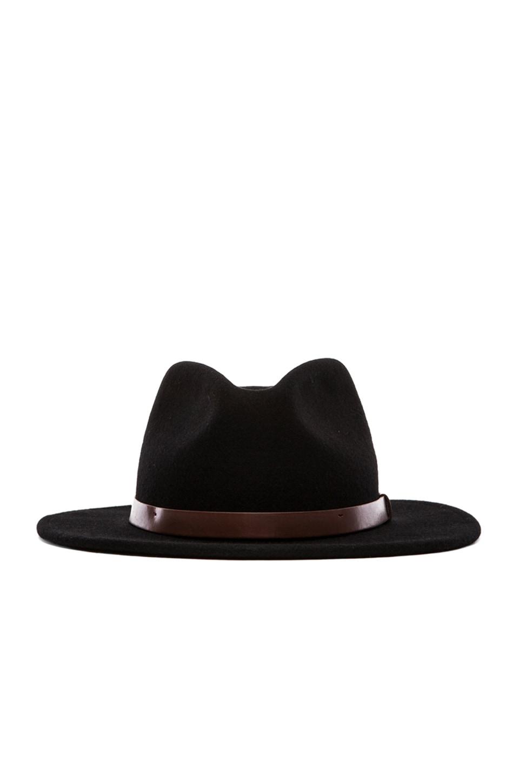 Brixton Messer Fedora in Black | REVOLVE