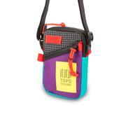 Topo Designs Mini Shoulder Bag crossbody travel purse in Purple Black Ripstop