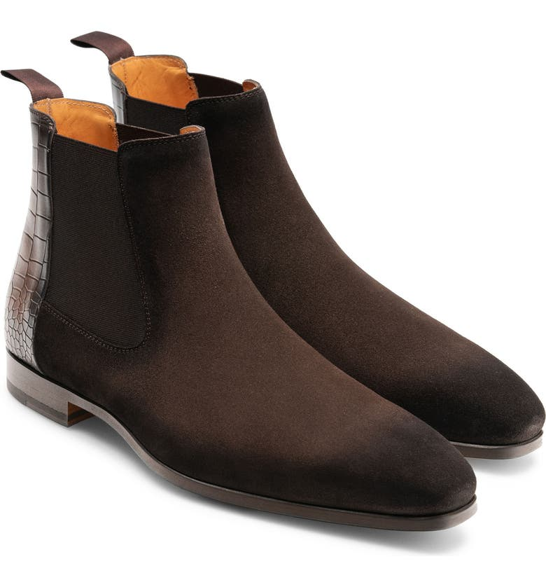 MAGNANNI Renley Chelsea Boot, Main, color, BROWN