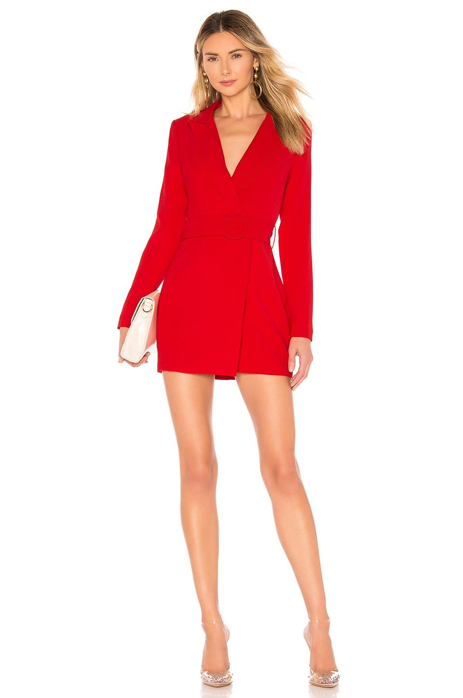 superdown Joan Belted Blazer Dress in Red | REVOLVE