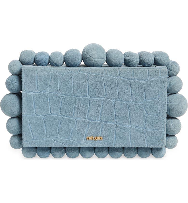 CULT GAIA Eos Beaded Box Clutch, Main, color, MAYA BLUE