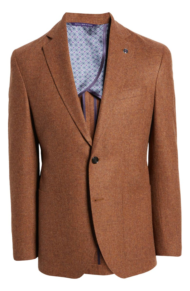 TED BAKER LONDON Keith Mélange Wool & Cashmere Sport Coat, Main, color, CAMEL