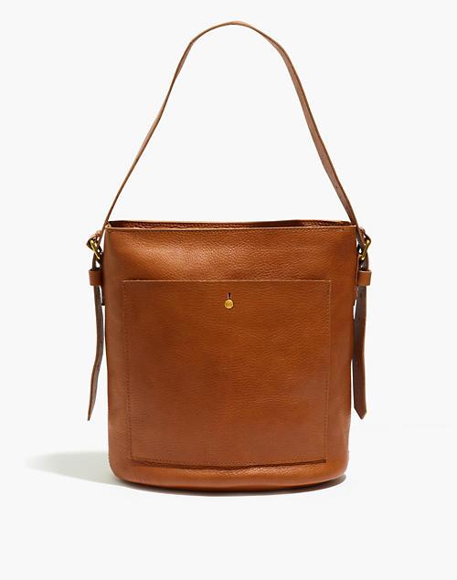 The Transport Bucket Bag in english saddle